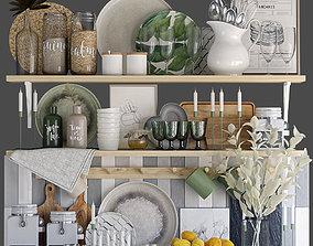 Kitchen shelves 3D model