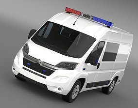 3D model Citroen Relay Police 2017