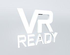 VR Ready Symbol v1 002 3D model