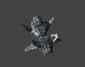 SciFi Spaceship Bomber 3D