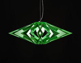 3D Suspension lamp Impuls green