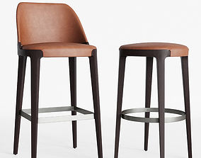Potocco Velis barstool and Round counterstool 3D model