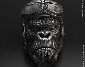 Biker Monkey vol1 ring 3D printable model