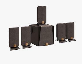 Speaker Set CREATIVE 3D model