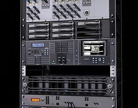 Electronic equipment rack 3D asset