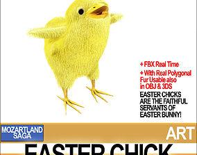 3D model Easter Chick