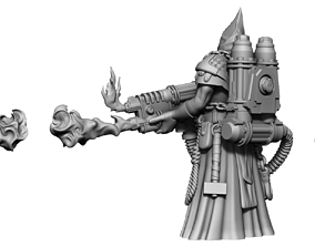 Heresylab Redeemers cultist THE MEAN ONE 3D print model 1