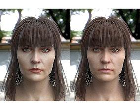 woman head photorealistic female V3 3D asset