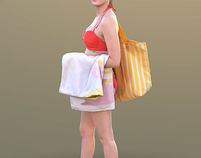 3D model Elena 10455 - Walking Bikini Girl