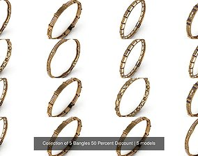 Collection of 5 Bangles 50 Percent Discount 3D