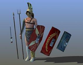3D asset Roman Gladiator - Myrmillo