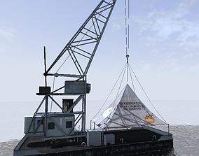 Floating crane Karl Friedrich Steen 3d model game-ready
