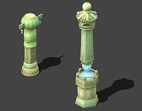 Cartoon sky city - light sound Tianzhu 3D model