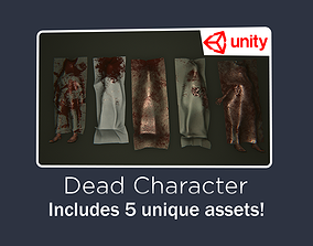 Dead Man Low-poly 3D model game-ready