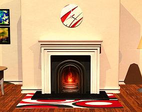 3D model Fireplace Mantle Interior