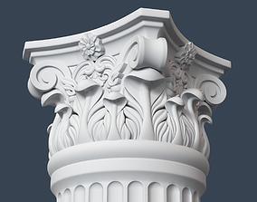 Corinthian Column 007 3D model