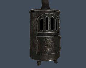 3D model Stylized old metal furnace