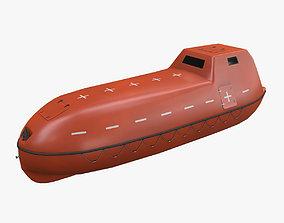 3D asset Rescue Boat