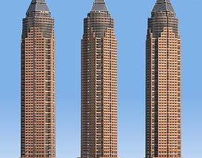 3D model MesseTurm Skyscraper Detailed