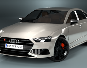Audi S7 2020 hight resolution low-poly model A8 low-poly 1