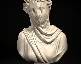 3D print model Classical Statue Bust - Veiled Vestal