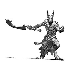 Anubis warrior 56mm - 3D print model