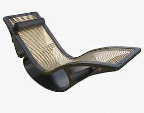 3D model Rio Chaise Longue Black Mental Ray