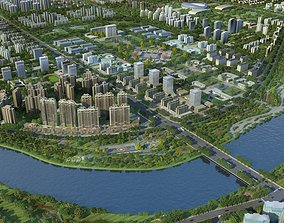 3D Modern City Animated 086