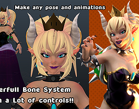 3D Bowsette with Modular Assets