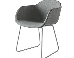 Muuto Fiber Armchair 3D