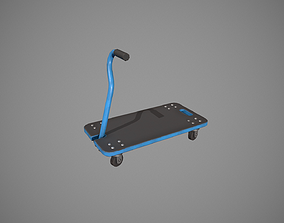 Transport Trolley - Blue 3D model