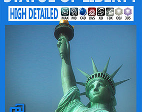 3D model attraction Statue of Liberty