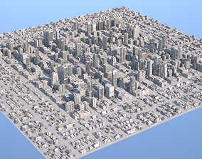 3D asset City Downtown with Suburb