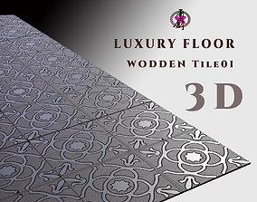 3D asset Luxury Floor - Wooden Tiles 01