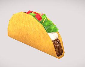 3D asset Low poly Taco
