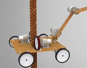 Rope climbing and descending Robot 3D model rope
