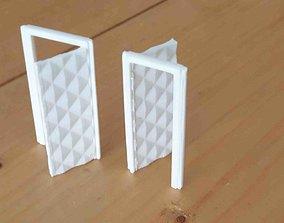 house Parametric door for 3dprint 18 x 44 mm