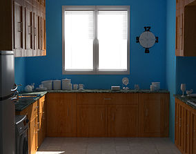 3D Kitchen Full Scene
