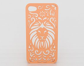 Tribal Lion Floral Iphone Case 5 5s 3D print model