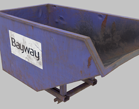 3D asset Low poly mini skip PBR