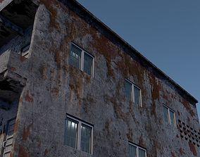 3D model Dirty two storey shop building
