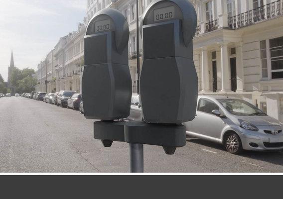 Parking Meter x 2 Low-poly Version