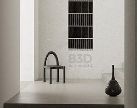 Traditional seat - interior scene 3d model 3D