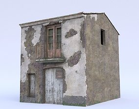 Post-Apocalyptic Abandoned House 3D asset