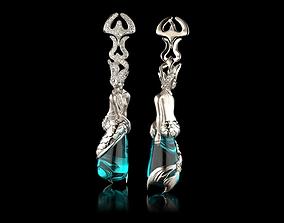 3D print model ER0003 - Earrings Sirena Ola MAGERIT