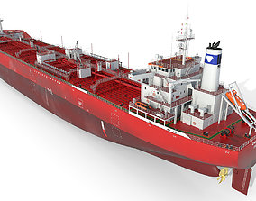 3D Oil Products Tanker red
