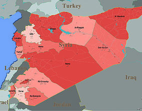 3D model A detailed map of Syria