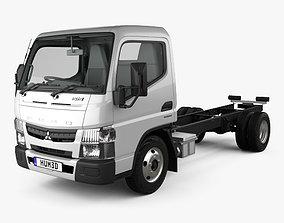 Mitsubishi Fuso Canter 515 SLC CC Truck with HQ 3D model 1