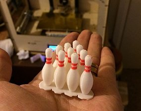Dual Extrusion Bowling Pin 3D printable model