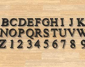 3D printable model Times New Roman Font